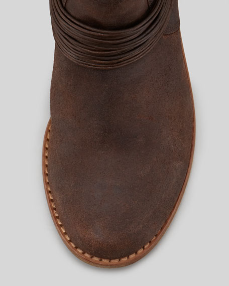 Snap Convertible Leather Boot, Timber
