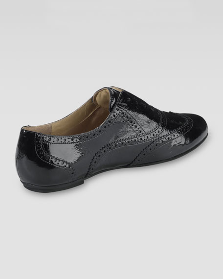 Tompkins Patent Leather Oxford, Black