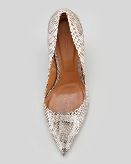 Allie Snake Wedge Pump