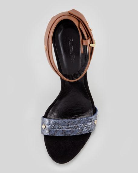 Osana Snake Ankle-Wrap Sandal