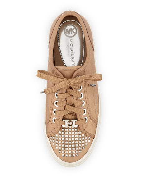 Stud-Toe Leather Sneaker