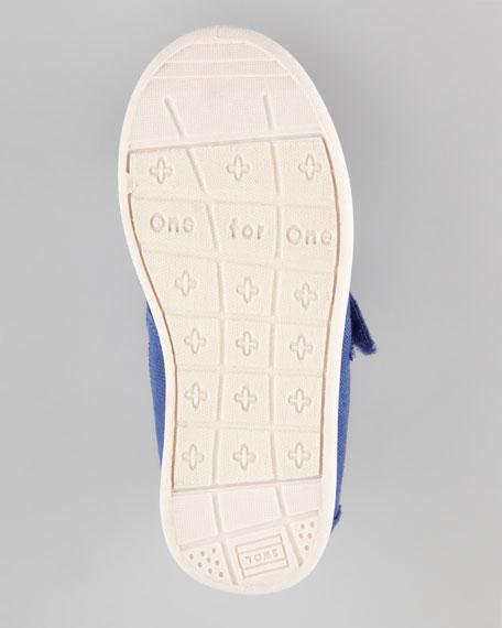 Canvas Mary Jane Slip-On, Navy, Tiny