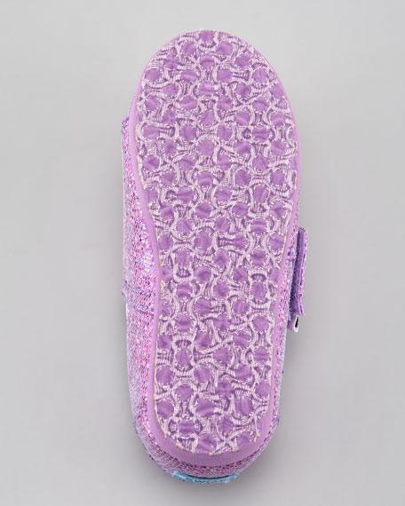 Lilac Glitter Shoe, Tiny