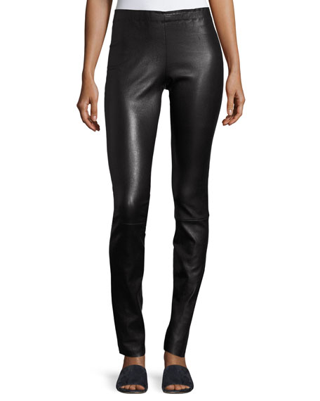 Image 1 of 5: Jo Skinny Lambskin Leather Leggings