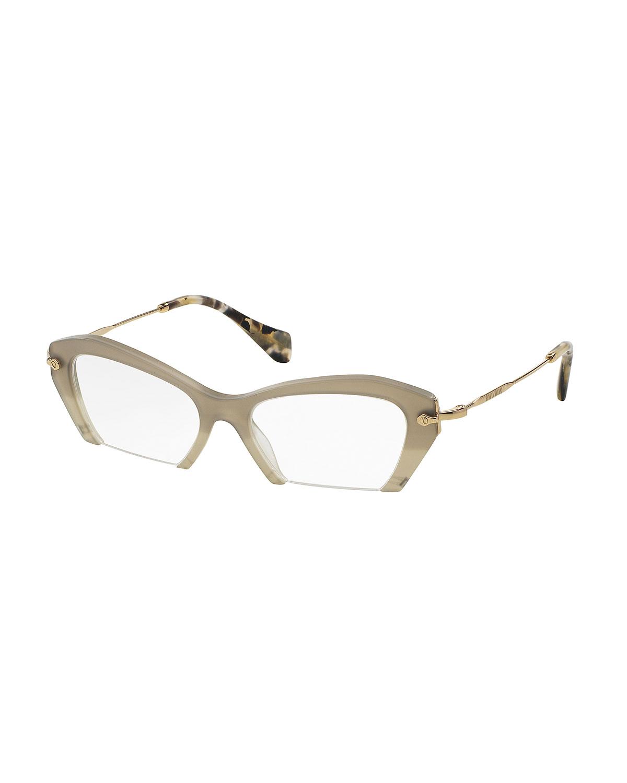 eda9c11d675d Miu Miu Cut-Off Cat-Eye Fashion Glasses