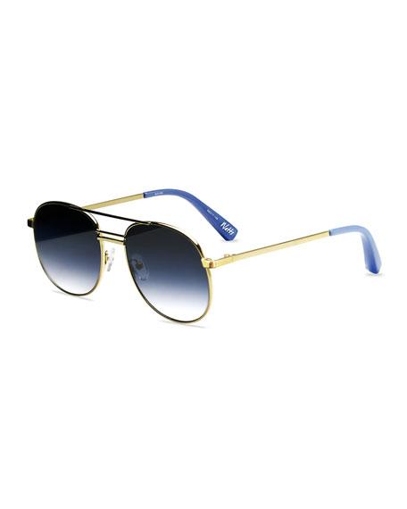 Watts Aviator Metal Sunglasses