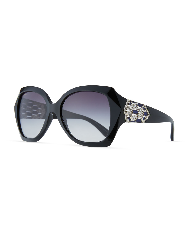 df9f812d9b BVLGARI Serpenti Oversized Butterfly Sunglasses
