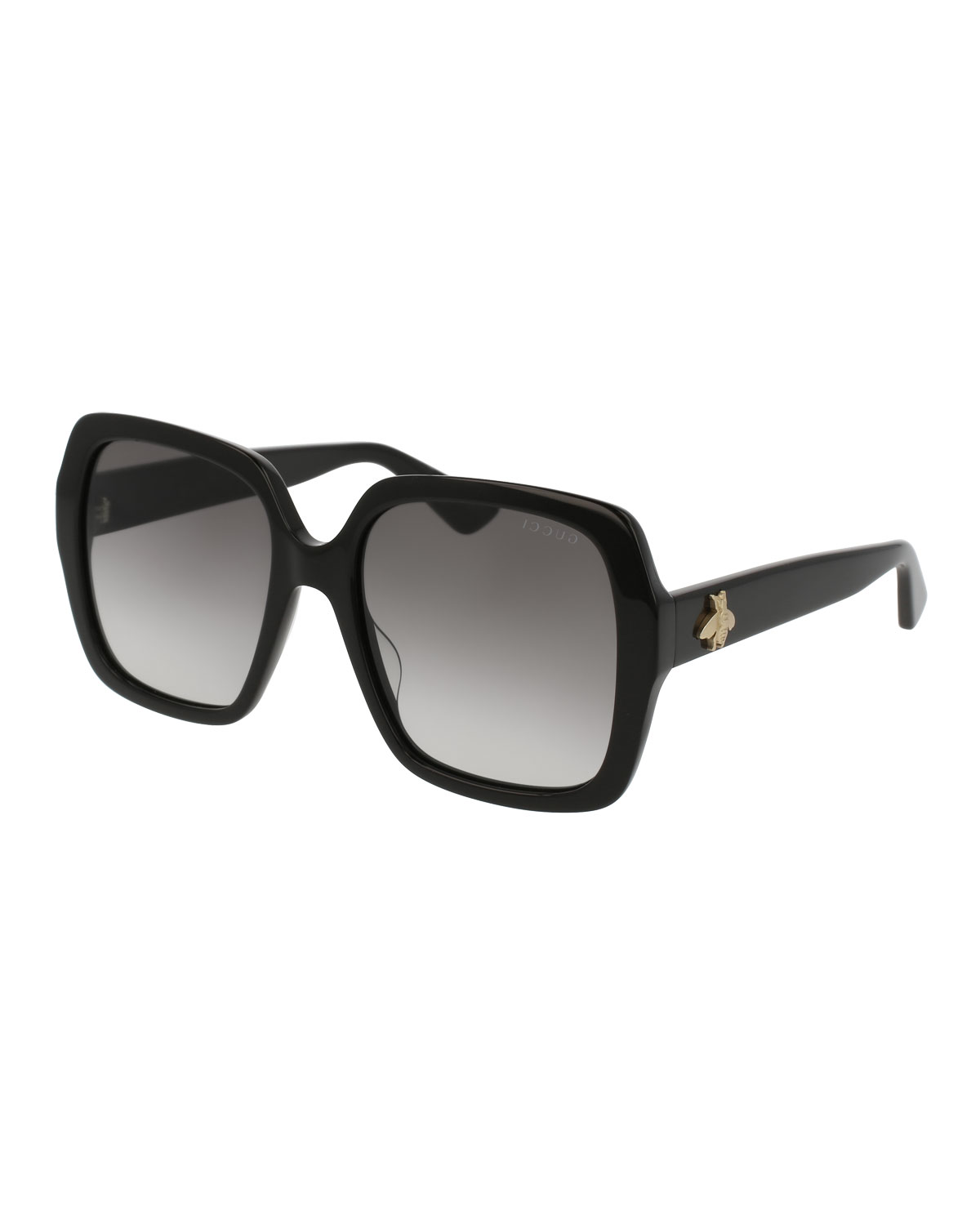 6257ec72c3e Gucci Square Bee   Logo Acetate Sunglasses