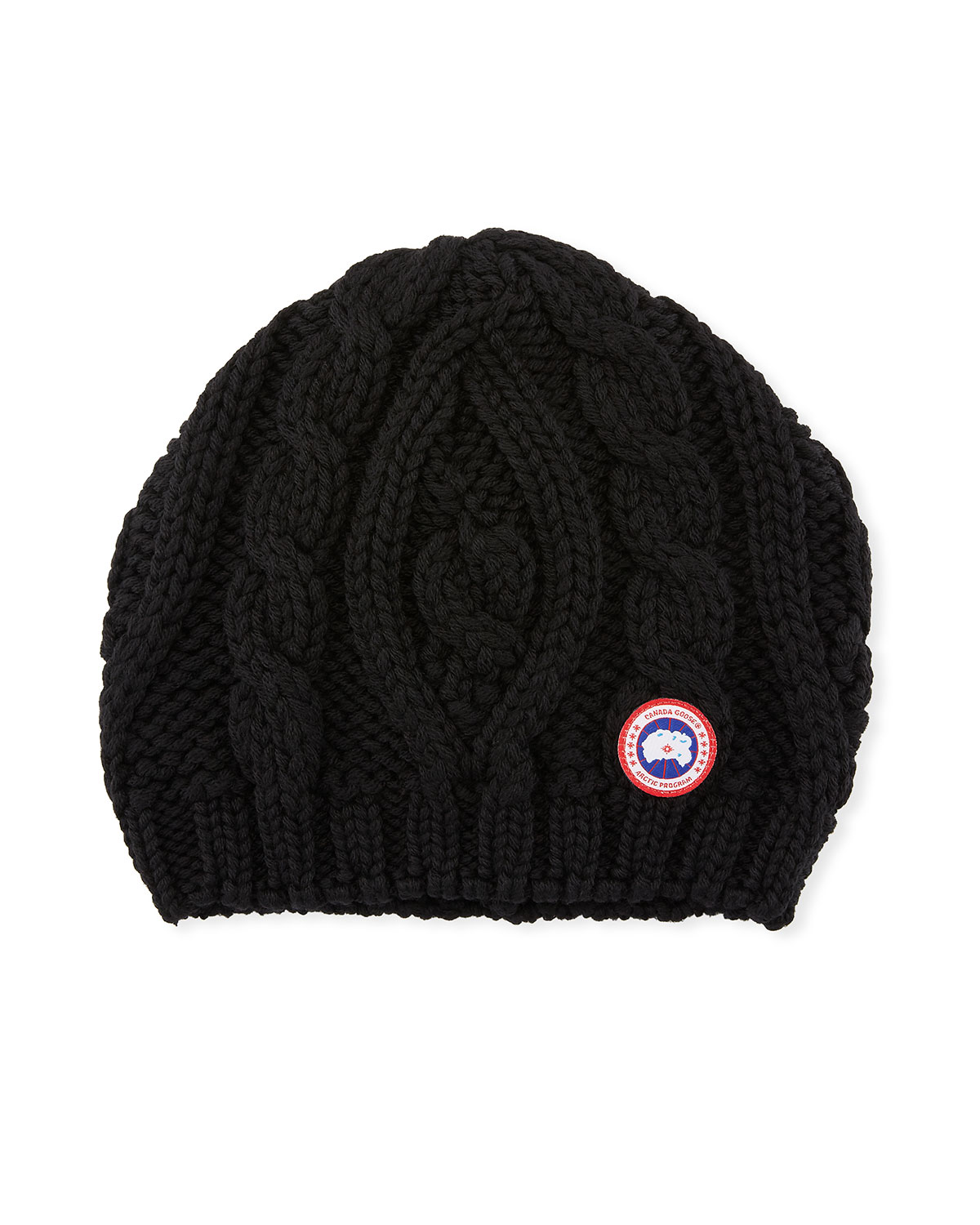 ac0f7dfcab6dd Canada Goose Ladies  Chunky Cable-Knit Beanie Hat