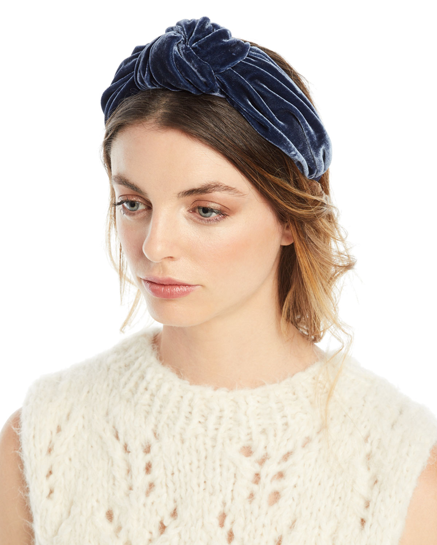 Jennifer Behr Ophelia Velvet Knotted Headband  dc0ab1f12ed
