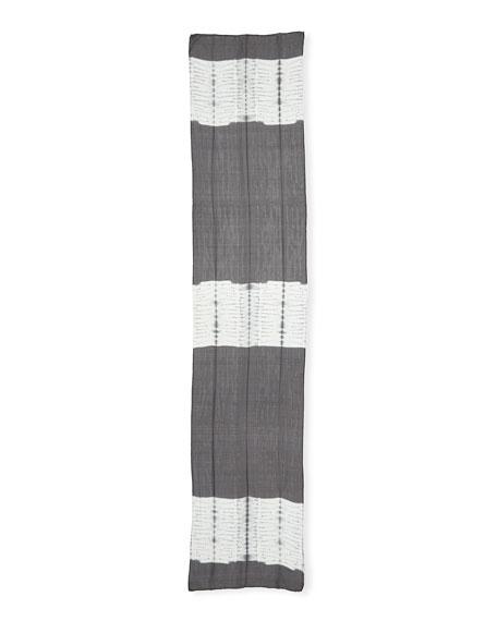 Eileen Fisher Shibori Bands Silk Scarf