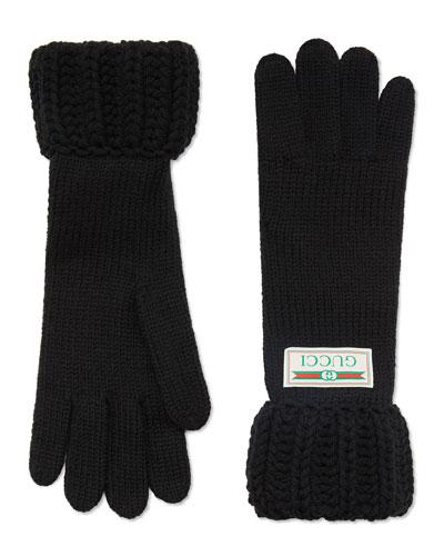 Knit Gloves w/ Logo Label