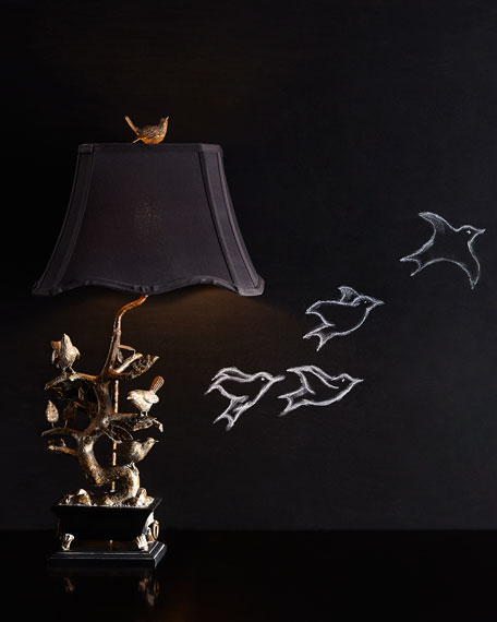 Image 3 of 4: Couture Lamps Brass Bird-on-Branch Lamp