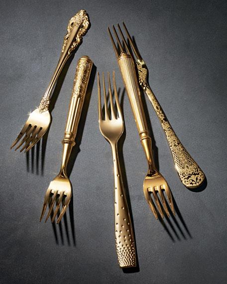 Wallace Silversmiths 65-Piece Gold-Plated Grand Duchess Flatware Service