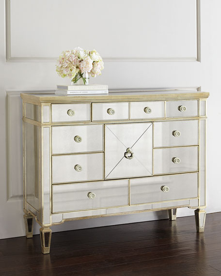 Amelie Mirrored Entertainment Chest