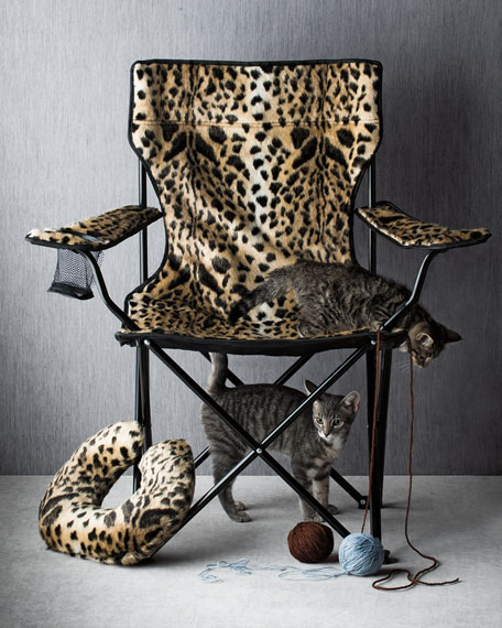 Leopard Print Folding Chair Neiman Marcus