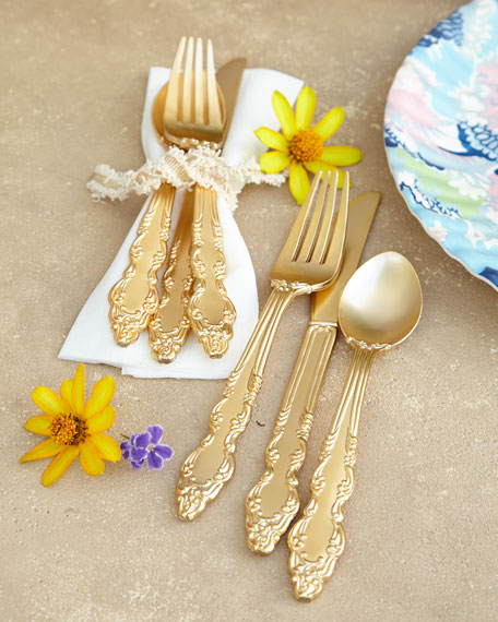 Golden Plastic Flatware
