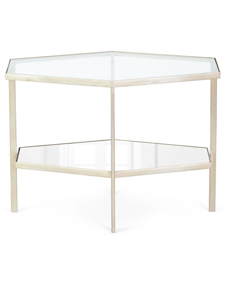 "Image 2 of 2: Global Views Valeria Hexagon Side Table, 18""T"