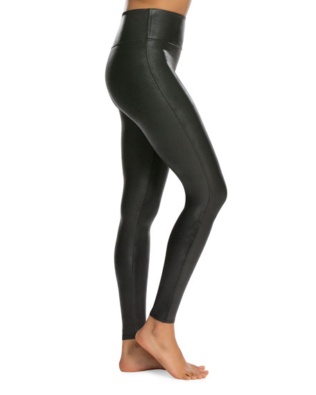 Image 3 of 4: Ready-to-Wow™ Faux-Leather Leggings