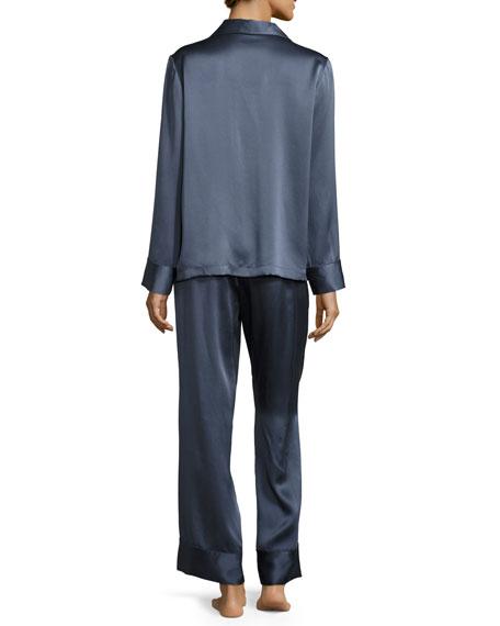 Satin Silk Two-Piece Pajama Set