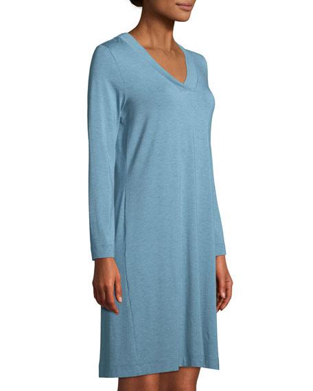 Hanro Champagne Long-Sleeve Nightgown