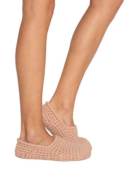 Eberjey Wide-Knit Ankle Slipper Socks