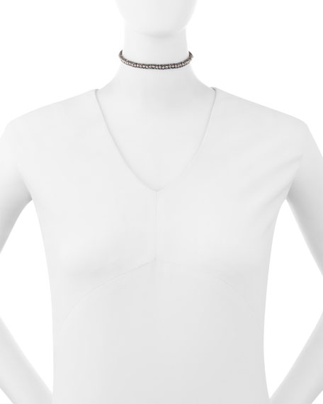 Beaded Tassel Choker Necklace