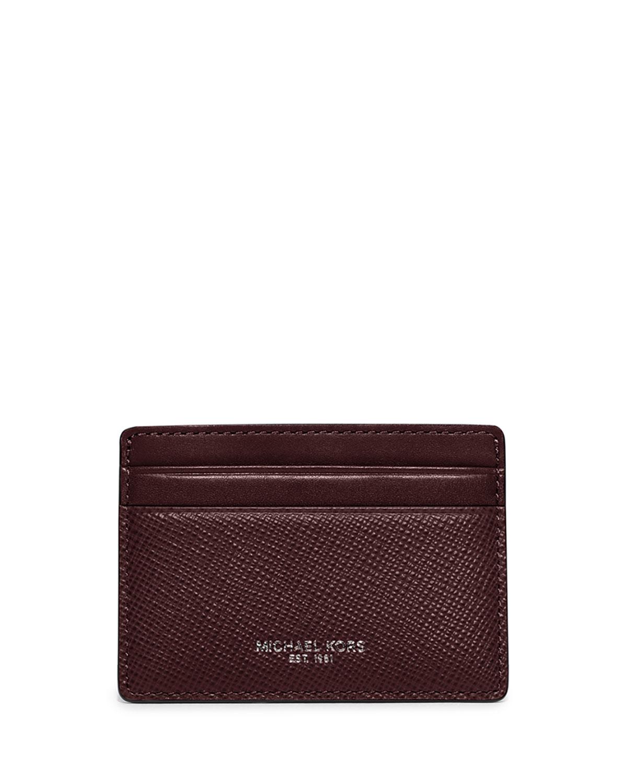 516edee72a28 Michael Kors Harrison Cross-Grain Leather Card Case