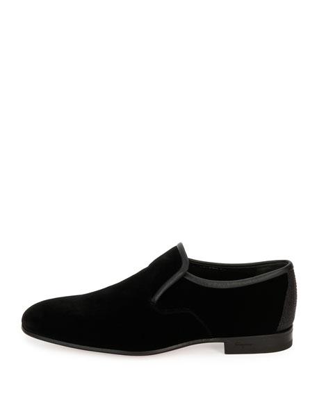 Velvet & Stingray Formal Loafer, Black