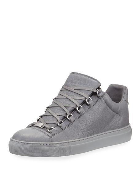 insondable medallista Hazlo pesado  Balenciaga Men's Arena Leather Low-Top Sneakers | Neiman Marcus