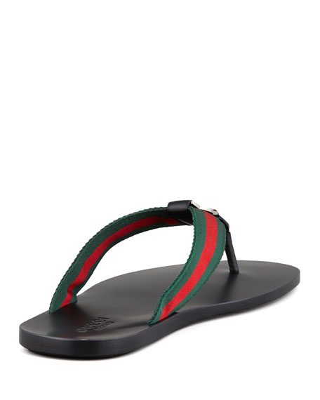 Image 5 of 5: Gucci GG Line Signature Web Thong Sandal