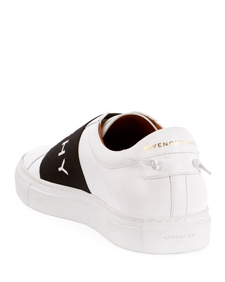 Givenchy Men's Urban Street Elastic Slip-On Sneakers, White/Black