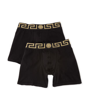dfb24607a6 Versace Two-Pack Barocco Low-Rise Boxer Briefs