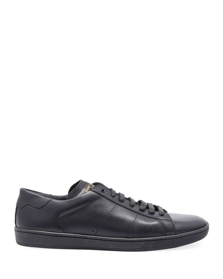 Image 2 of 3: Saint Laurent Men's SL01 Leather Low-Top Sneakers