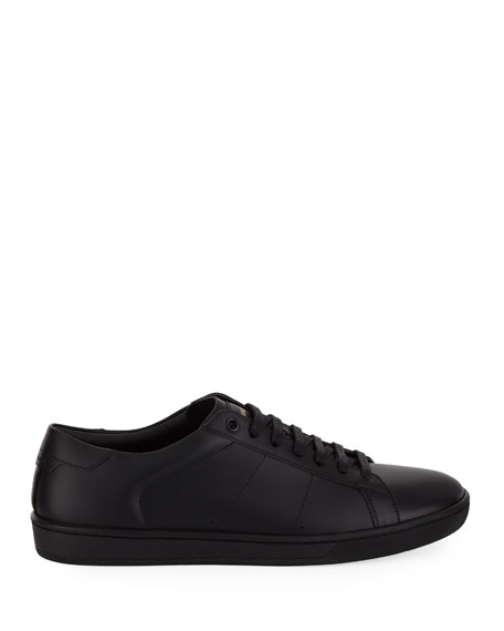 Image 3 of 3: Saint Laurent Men's SL01 Leather Low-Top Sneakers