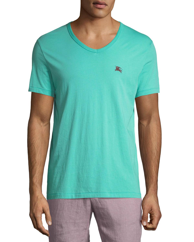 89ad39de Burberry Jadford V-Neck Cotton T-Shirt | Neiman Marcus