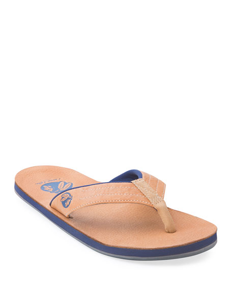 Hari Mari x Nokona Men's Leather Thong Sandals, Honey