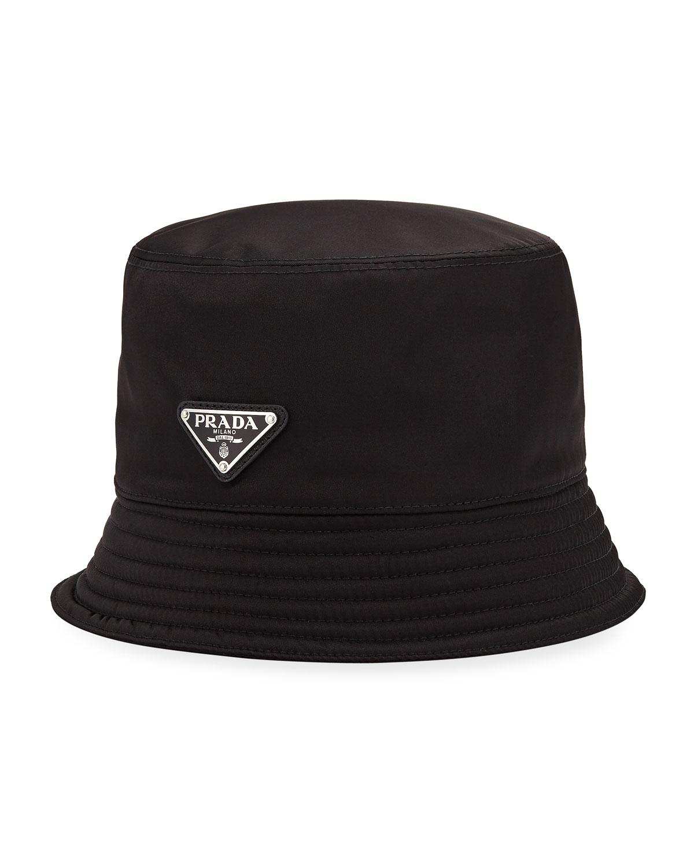 2551b440 Prada Men's Nylon Bucket Hat with Logo | Neiman Marcus