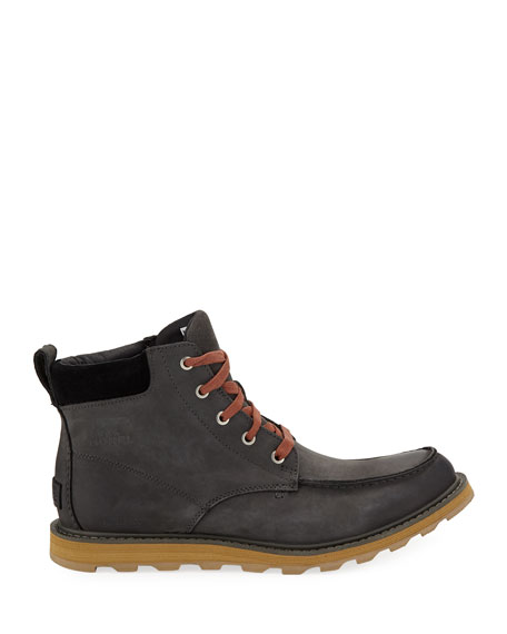 Image 3 of 3: Sorel Men's Madson Moc-Toe Waterproof Leather Hiker Boots