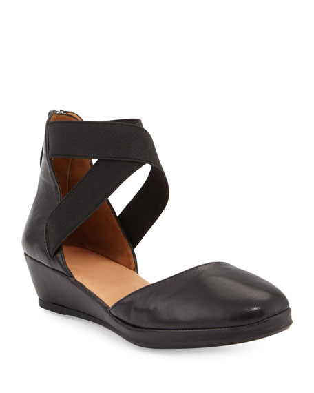Gentle Souls Noa Leather d'Orsay Wedge