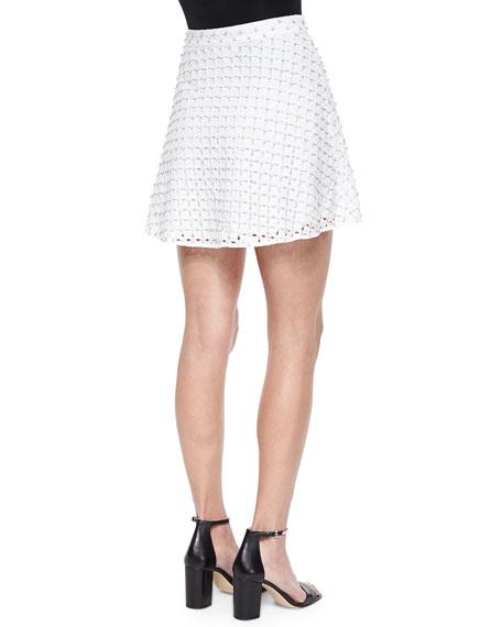 Floral Eyelet Circle Skirt