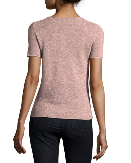 Tolleree Short-Sleeve Cashmere Sweater