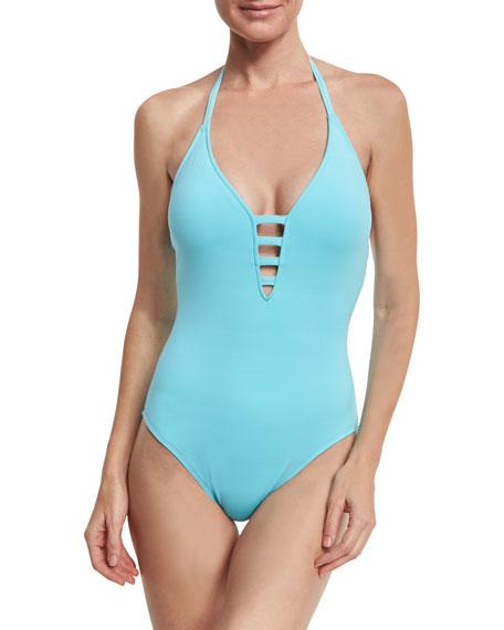 Island Goddess Mio Halter One-Piece Swimsuit