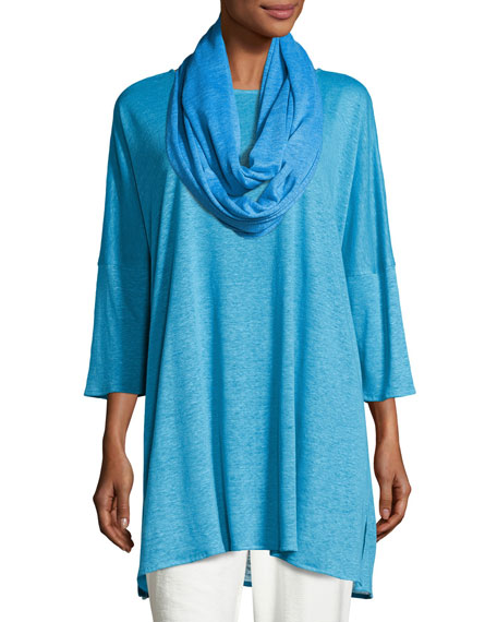 CLSSC LINEN KNIT EASY TUNIC