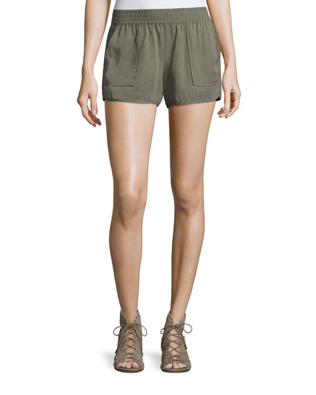 Image 1 of 2: Beso Smocked Linen Shorts