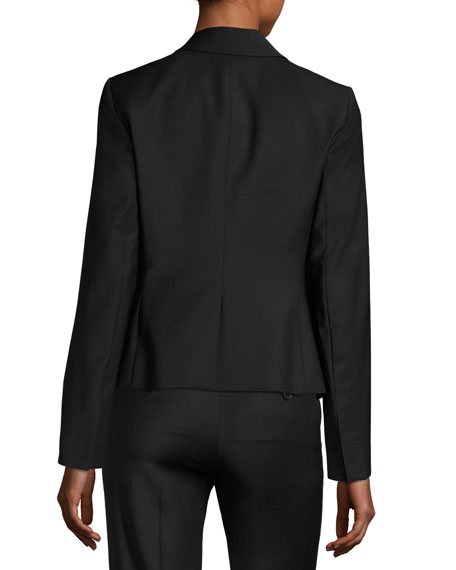 Brince B Continuous Single-Button Blazer