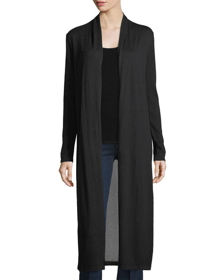 Superfine Viscose-Back Cashmere Duster