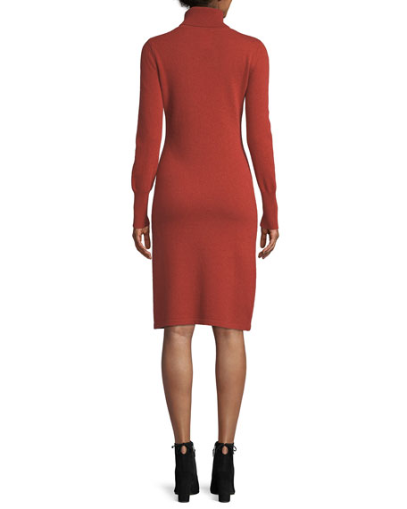 Image 3 of 4: Cashmere Turtleneck Sweater Dress