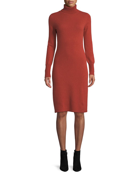 Image 1 of 4: Cashmere Turtleneck Sweater Dress