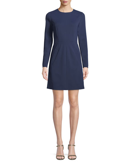 Diane von Furstenberg New Capreena Long-Sleeve Jersey A-line
